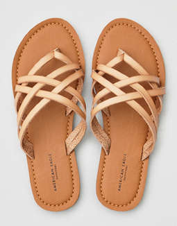 09034f179ca8 placeholder image AEO Strappy Slide Sandals ...