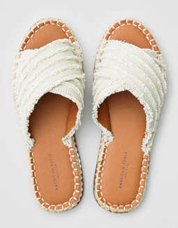 AEO Frayed X-Band Slide Sandals