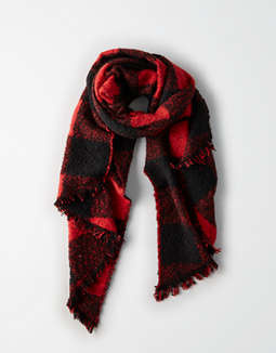 Aeo Buffalo Plaid Blanket Scarf by American Eagle Outfitters