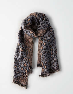 Aeo Leopard Pattern Blanket Scarf by American Eagle Outfitters