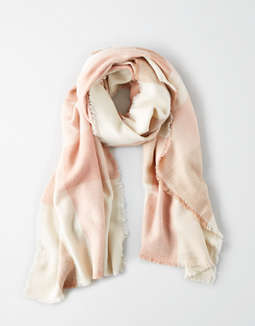 Aeo Neutral Plaid Blanket Scarf by American Eagle Outfitters