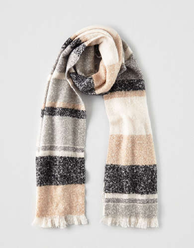 AEO Striped Blanket Scarf