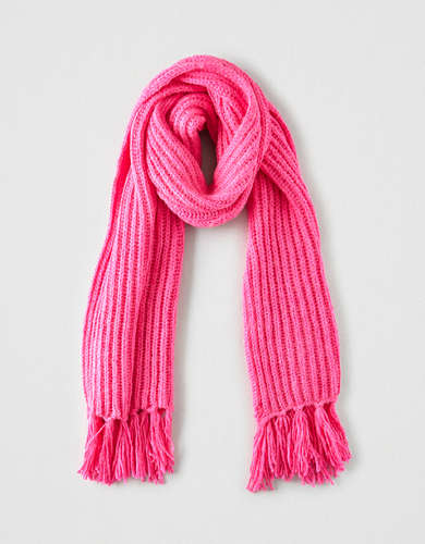 AEO Neon Knit Scarf