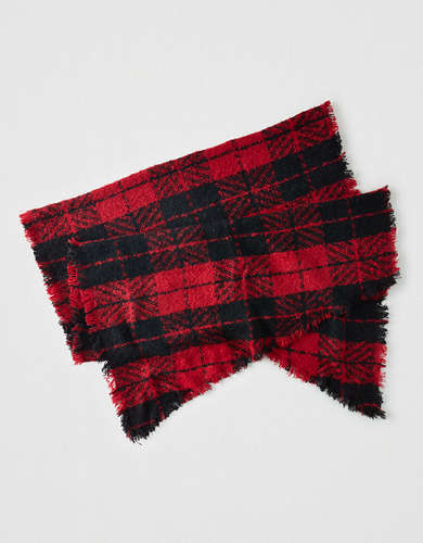 AEO Plaid Blanket Scarf