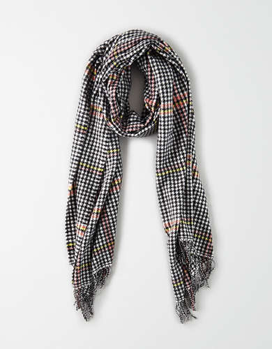 AEO Houndstooth Blanket Scarf
