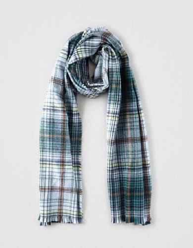 AE Plaid Blanket Scarf