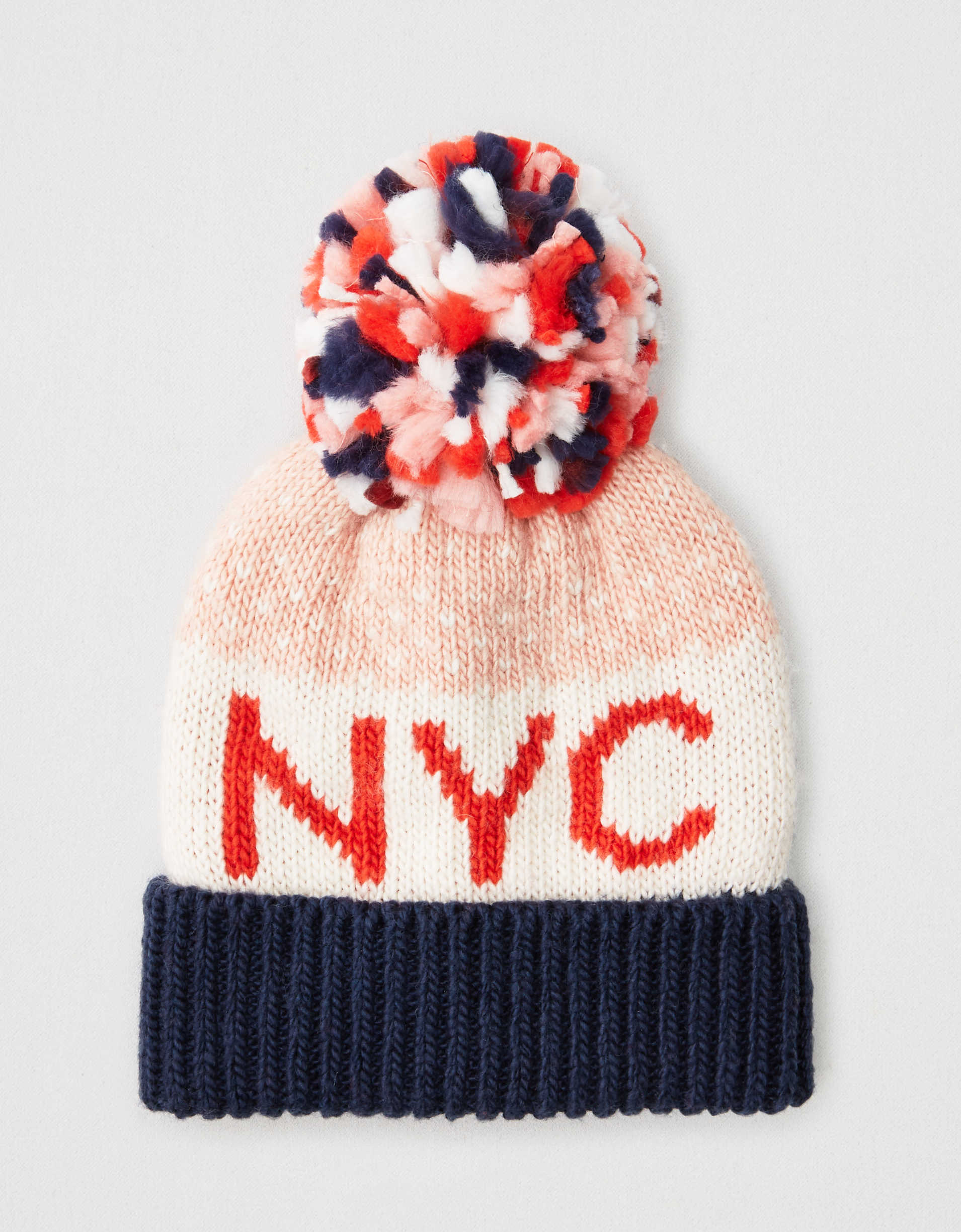 AEO NYC Color Block Beanie