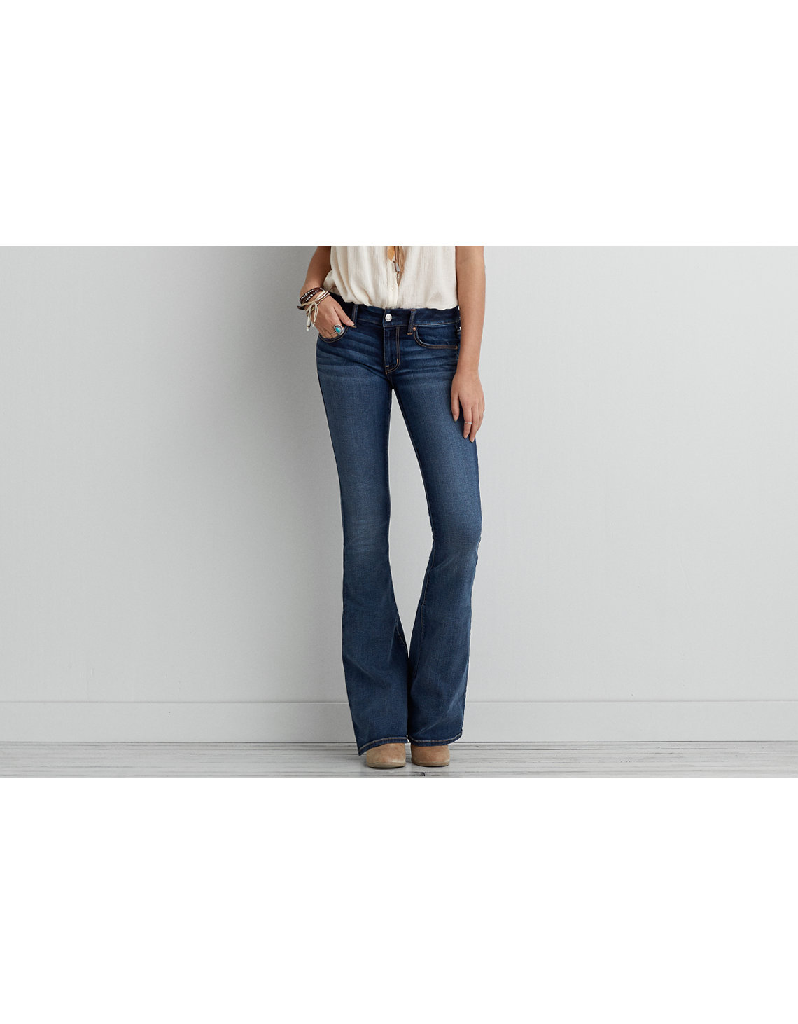 Boho Artist® Flare Jean, Washed Jewel | American Eagle Outfitters