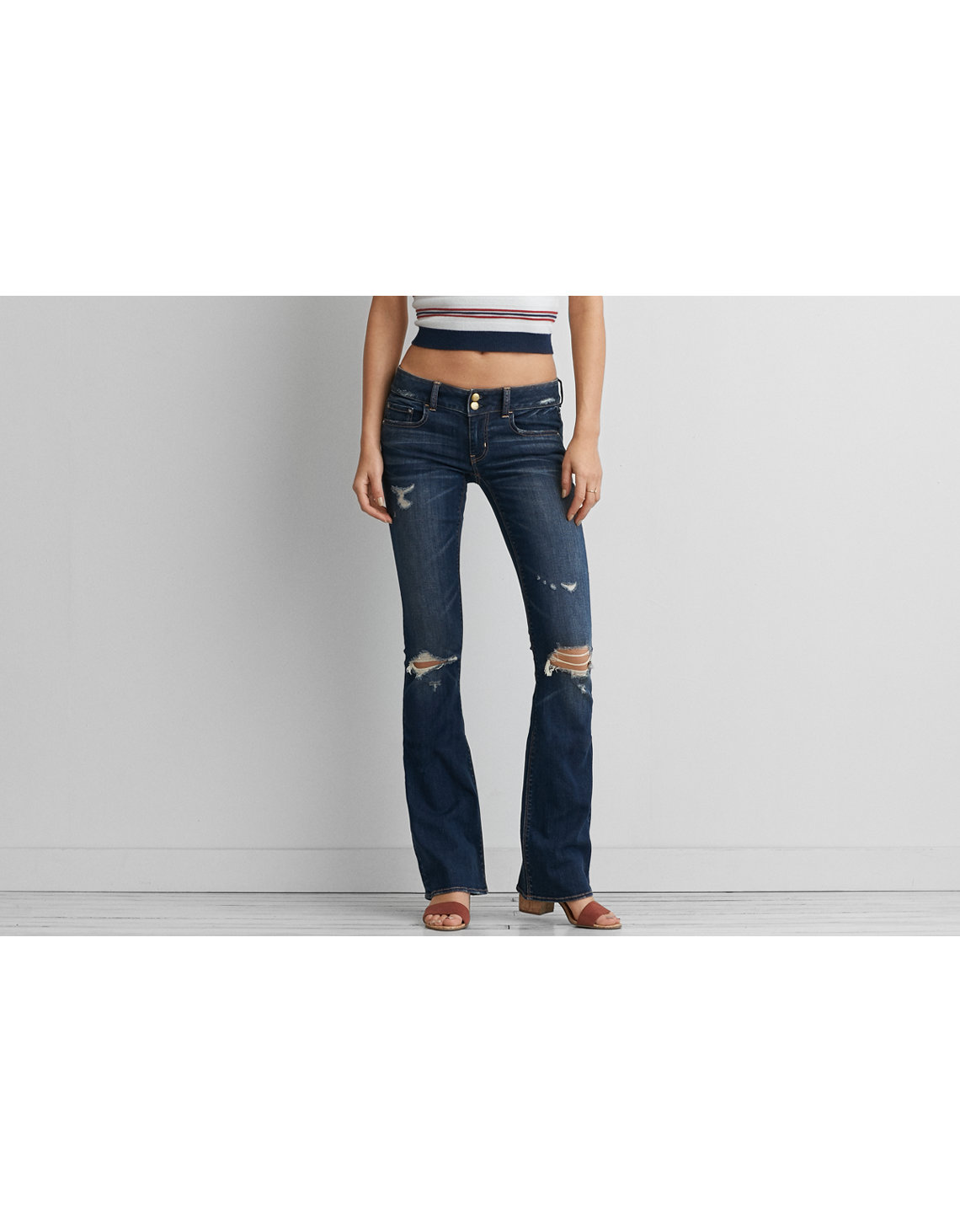 Flare Jean - Womens Ripped Jeans - Destroyed, Distressed American Eagle