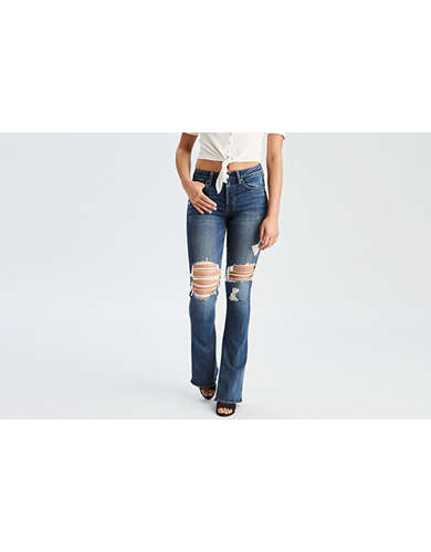 AE Denim X High-Waisted Slim Flare Jean