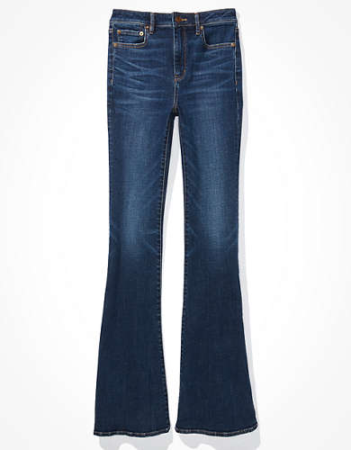 AE Super High-Waisted Split Hem Flare Jean