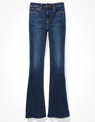 AE Super High-Waisted Split Hem Flare Jean