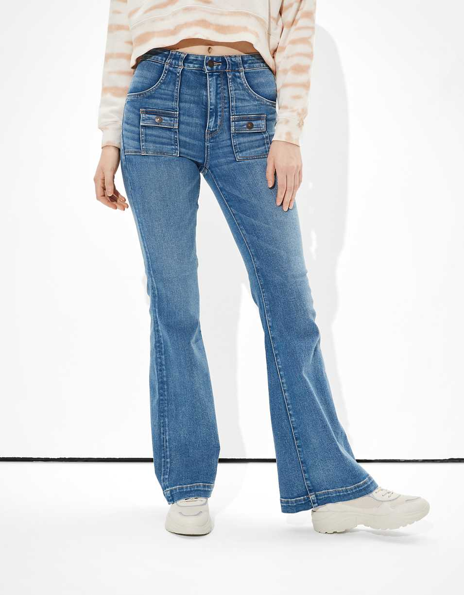 AE Ne(x)t Level Super High-Waisted Flare Jean