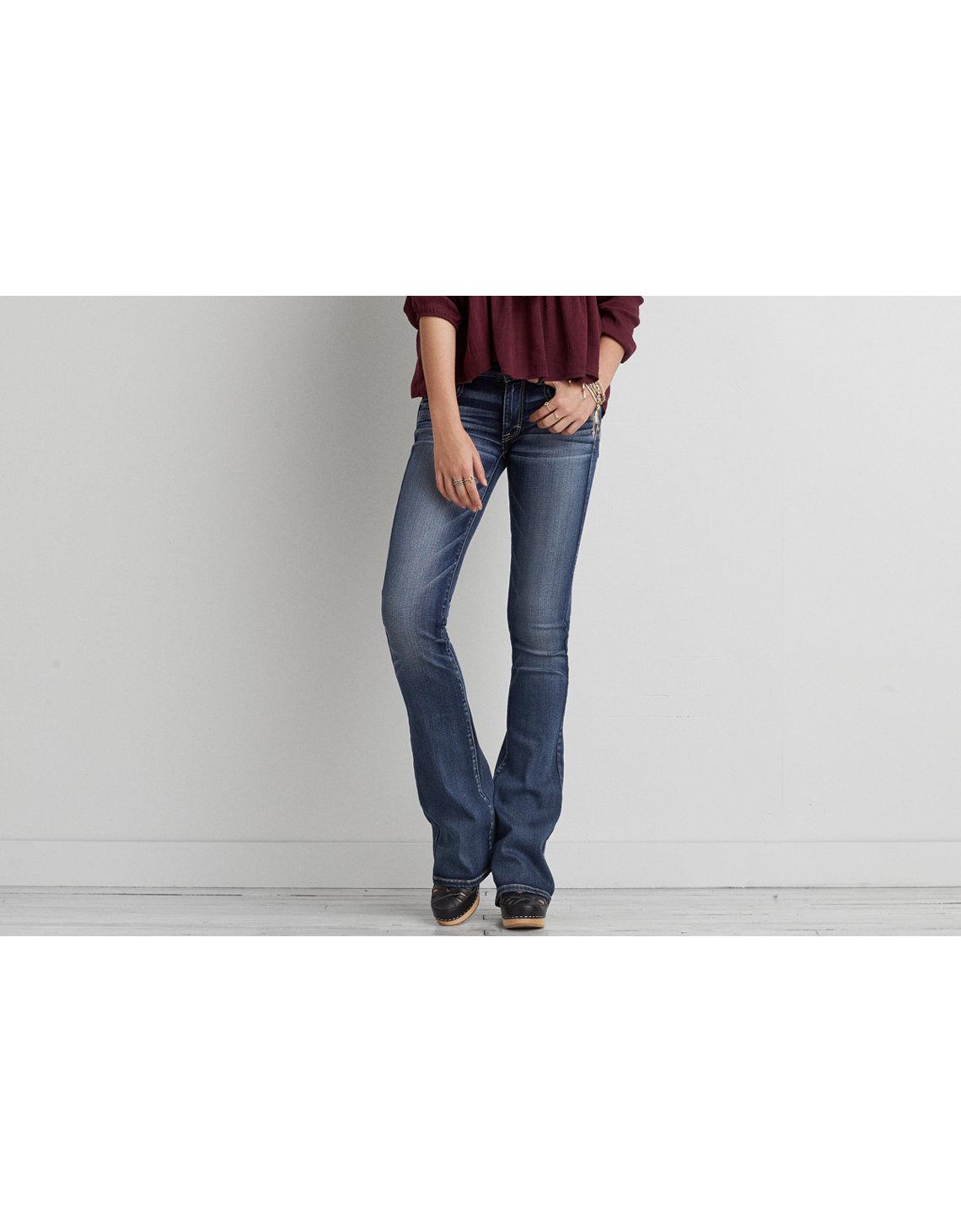 AE Denim X Kick Boot Jean - Indigo Super Skinny Jeans American Eagle Outfitters