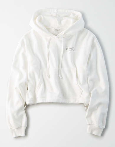 AE Fleece Cinched Cropped Hoodie
