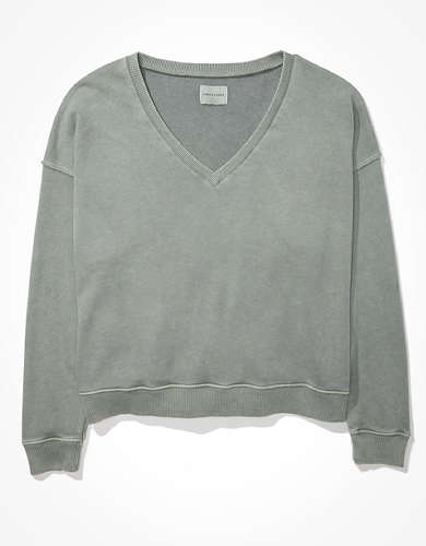 AE Fleece V-Neck Sweatshirt