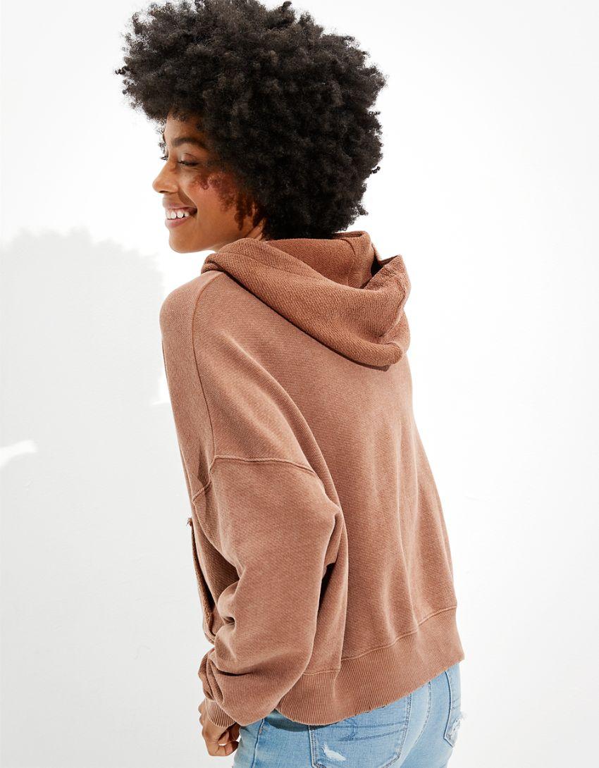 AE Textured Fleece Oversized Hoodie