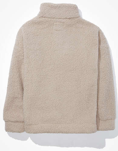 AE Sherpa Quarter Zip Up Sweatshirt