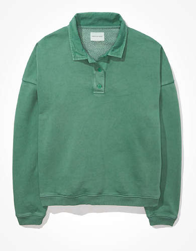 AE Fleece Polo Sweatshirt