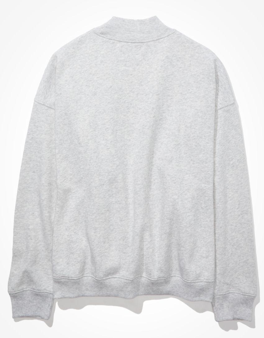 AE Oversized Fleece Graphic Mock Neck Sweatshirt