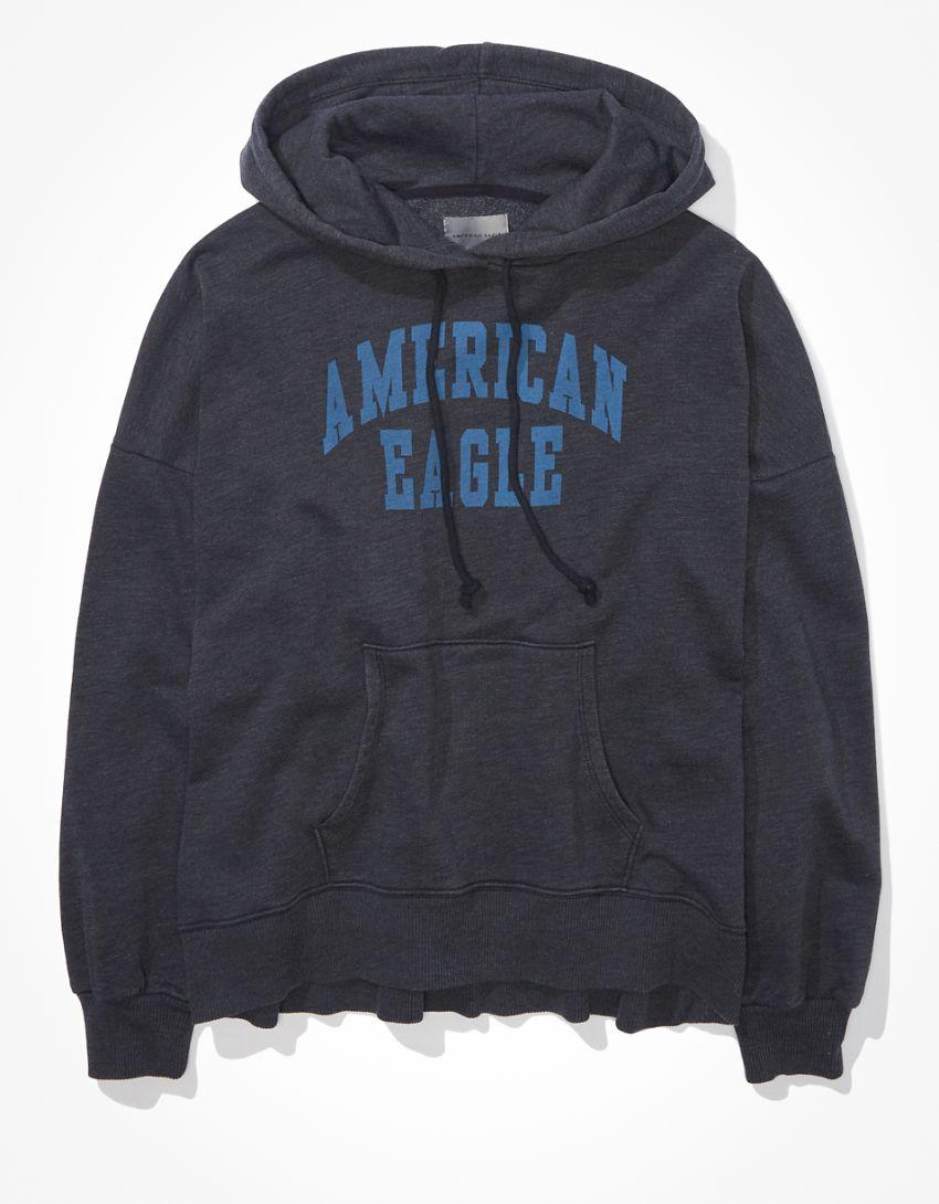 AE Fleece Graphic High-Low Hoodie