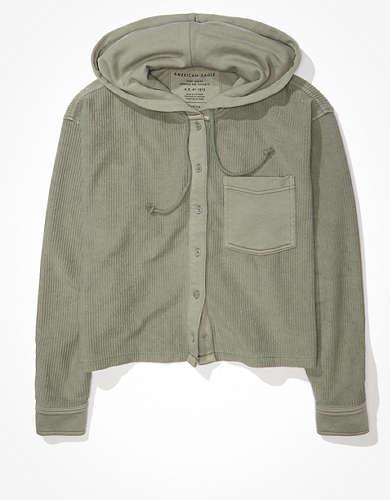AE フリース シャツジャケット