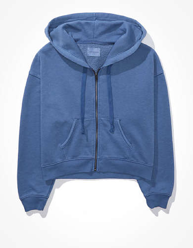 AE Fleece Cropped Zip-Up Hoodie