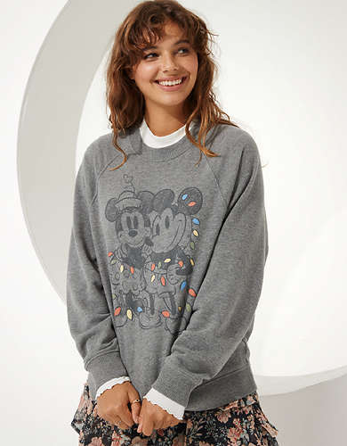 Disney X AE Fleece Crew Neck Sweatshirt