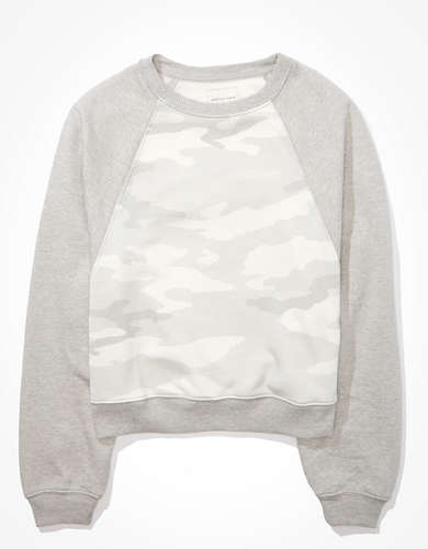 AE Fleece Dolman Crew Neck Sweatshirt