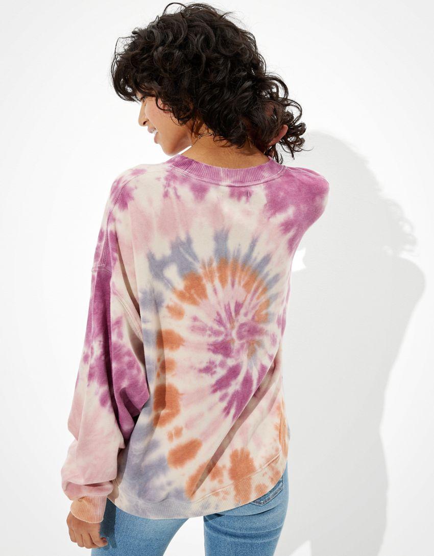 AE Forever Printed Crew Neck Sweatshirt