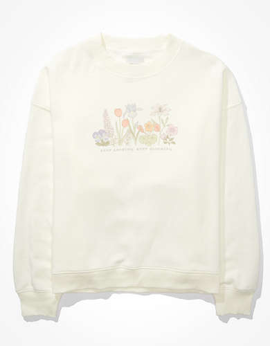 AE Forever Graphic Crew Neck Sweatshirt