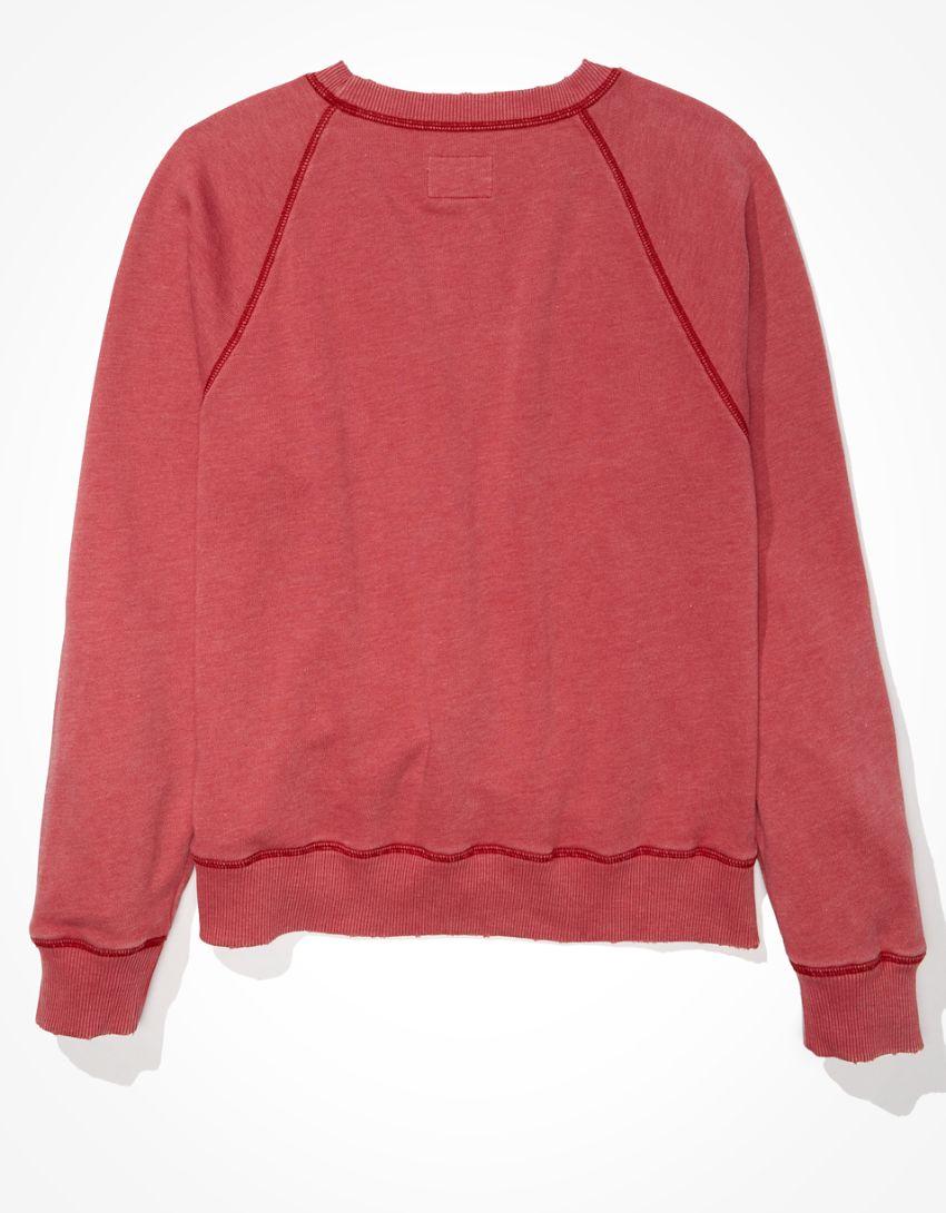 AE Summer Graphic Fleece Crew Neck Sweatshirt