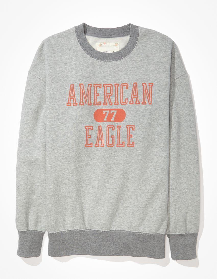 AE Super Soft Fleece Oversized Vintage Crew Neck Sweatshirt