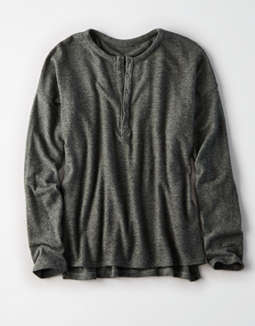 Ae Soft & Sexy Plush Henley by American Eagle Outfitters