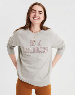 Sudadera Con Gráfico Ahhmazingly Soft Ae by American Eagle Outfitters