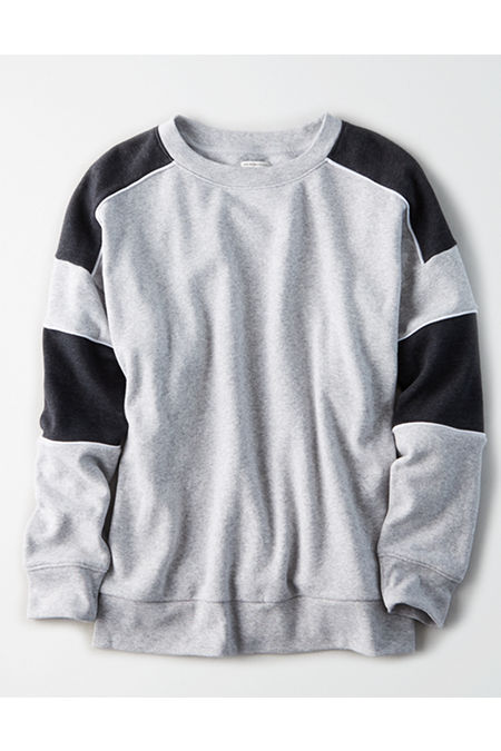 AE Ahhmazingly Soft Color Block Crewneck Sweatshirt