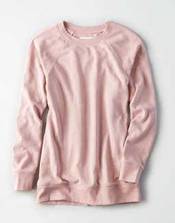 Ae Ahhmazingly Soft Crew Neck Sweatshirt by American Eagle Outfitters