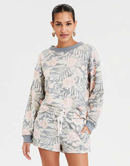 AE Ahhmazingly Soft Tropical Print Sweatshirt