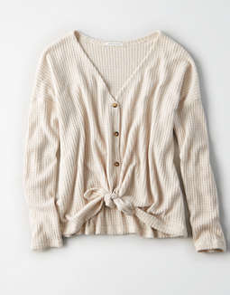 Ae Soft & Sexy Waffle Knot Top by American Eagle Outfitters
