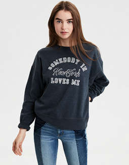AE Ahhmazingly Soft NYC Graphic Sweatshirt