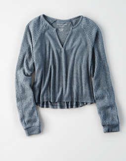 Ae Plush Crew Neck Pullover by American Eagle Outfitters
