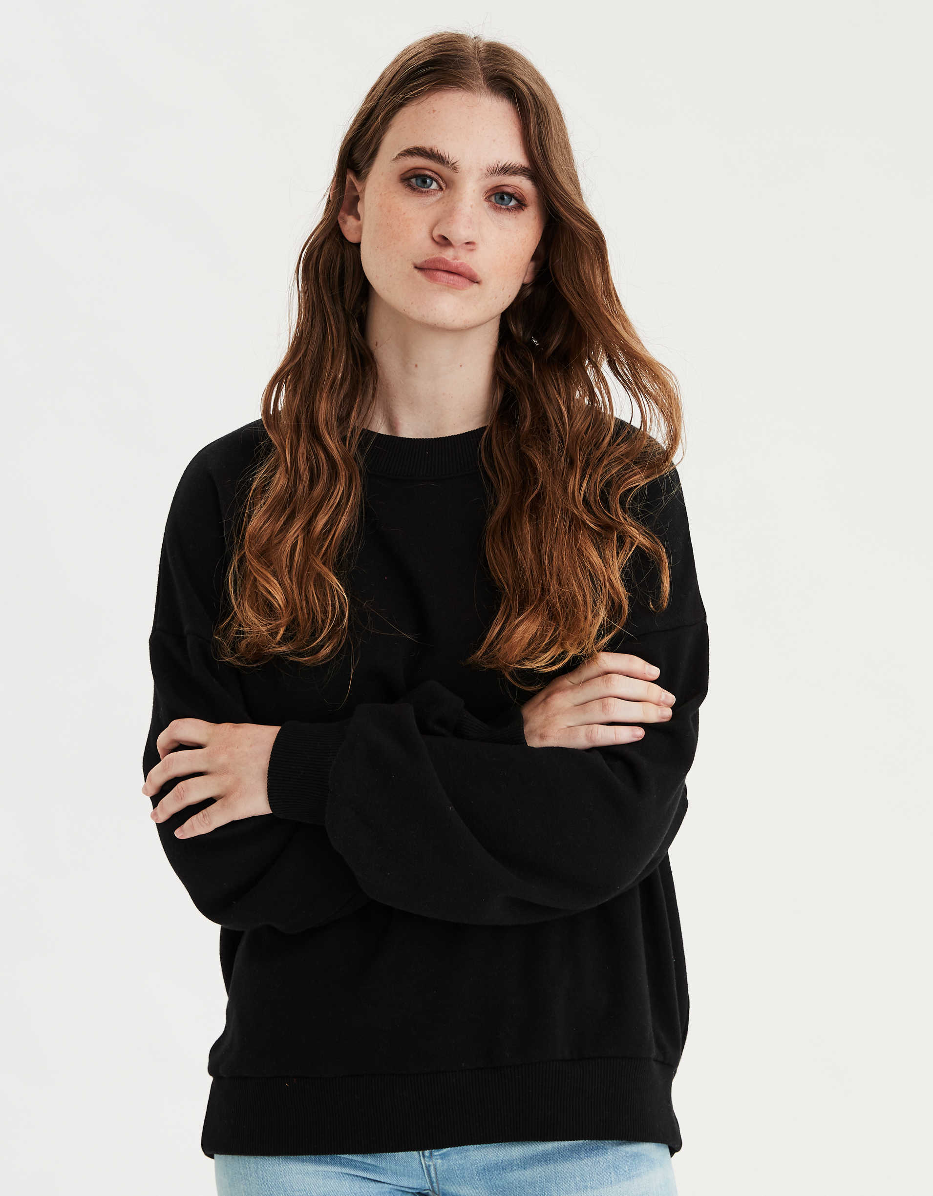 AE Drop Shoulder Crew Neck Sweatshirt