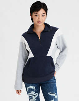 AE Colorblock Half Zip Sweatshirt