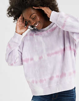 AE Tie Dye Drop Shoulder Sweatshirt