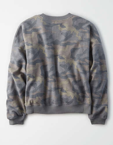 AE Fleece Boxy Crew Neck Sweatshirt