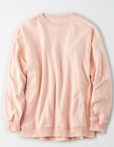 AE Fleece Oversized Vintage Crew Neck Sweatshirt