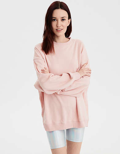 AE Oversized Vintage Fleece Crew Neck Sweatshirt