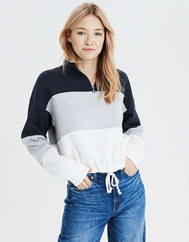 AE Fleece Quarter Zip Sweatshirt