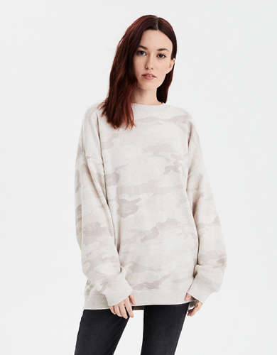 AE Fleece Oversized Crew Neck Sweatshirt