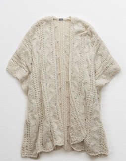 Aerie Cable Toggle Poncho